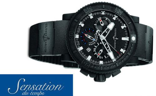 SENSATION DU TEMPS PRESENTA Black Sea Chronograph de Ulysse Nardin