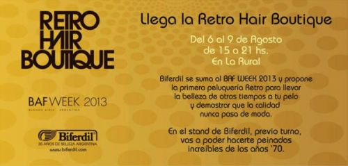 Llega la Retro Hair Boutique al BAFWEEK