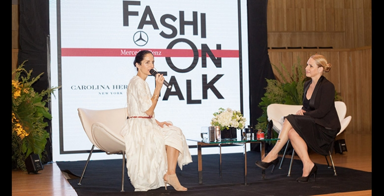 Carolina Herrera de Báez, protagonista del Mercedes-Benz Fashion Talk